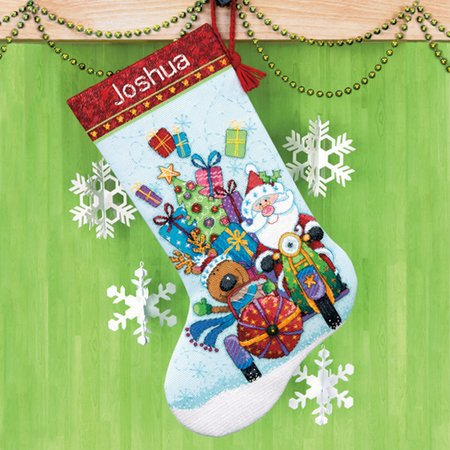 counted cross stitch christmas stockings
