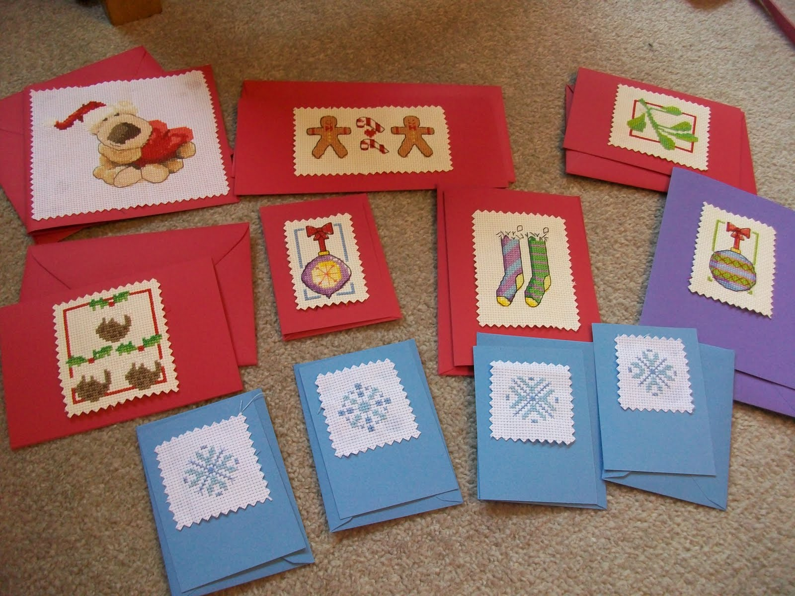 cross stitch cards