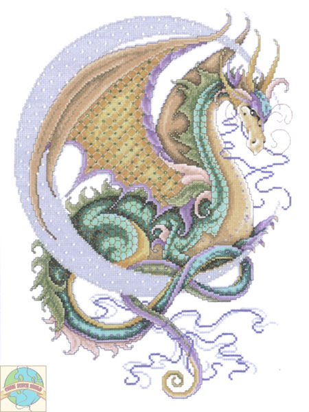 cross stitch dragon