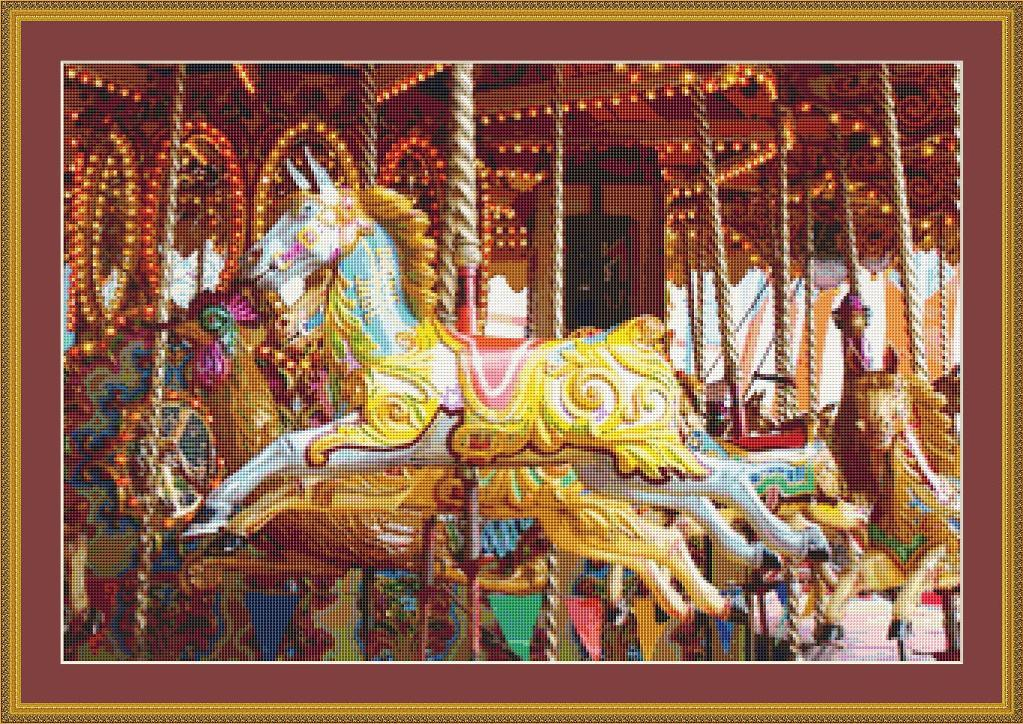 cross-stitch-horses