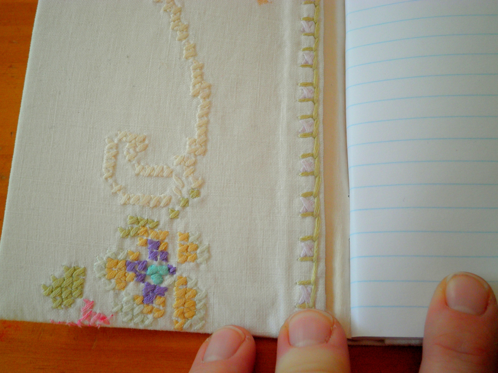 cross stitch linen