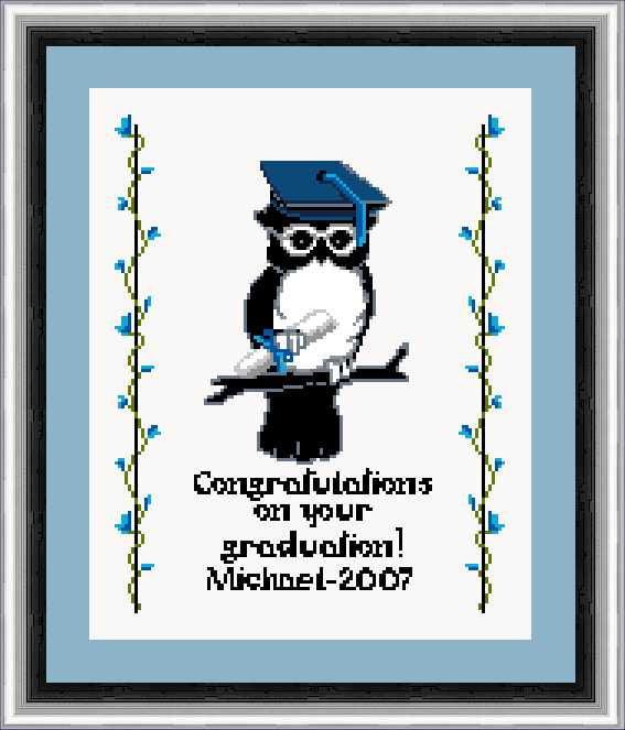 graduation cross stitch