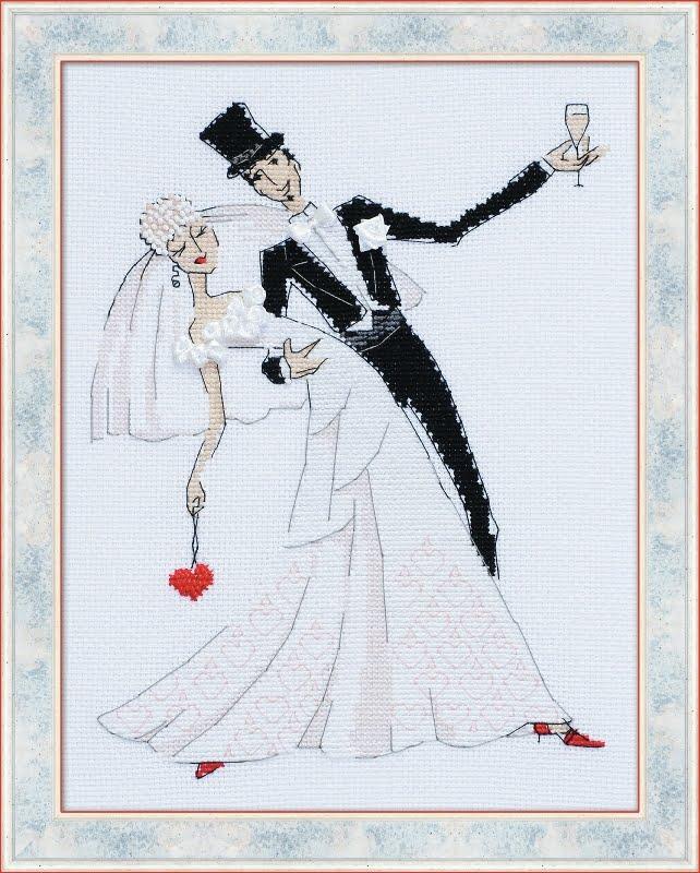 wedding counted cross stitch