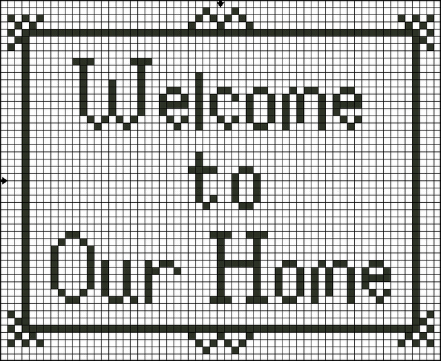 welcome cross stitch patterns