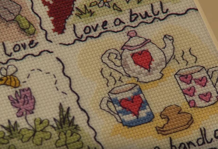counted cross stitch wedding