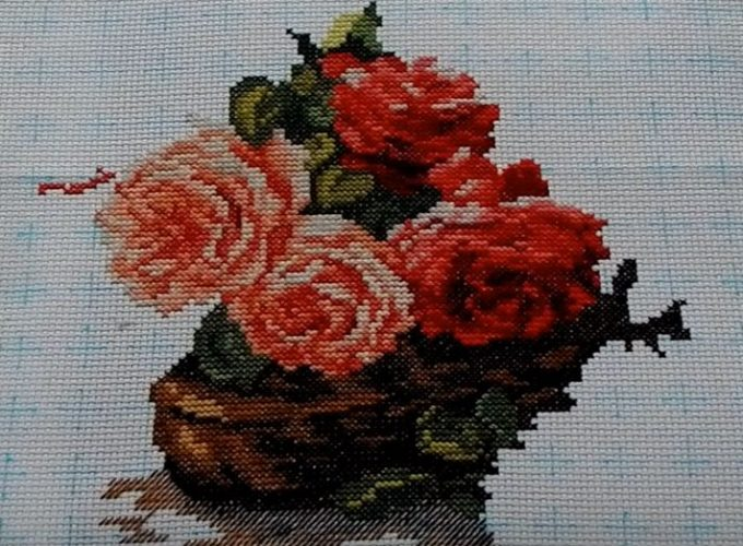 cross stitch kits flowers