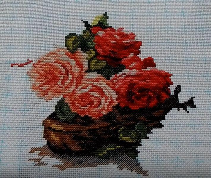 cross stitch kits flowers