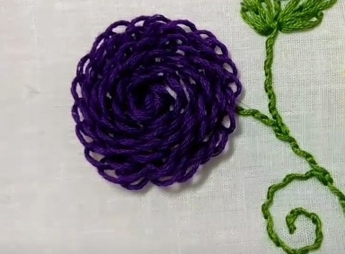 embroidery floss blue