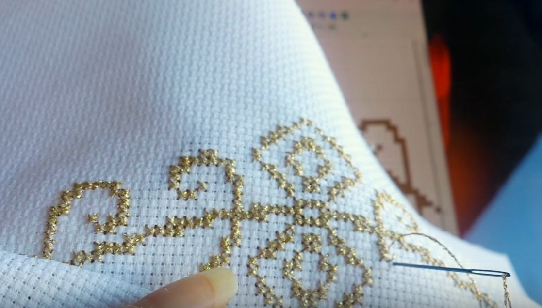 free cross-stitch patterns wedding