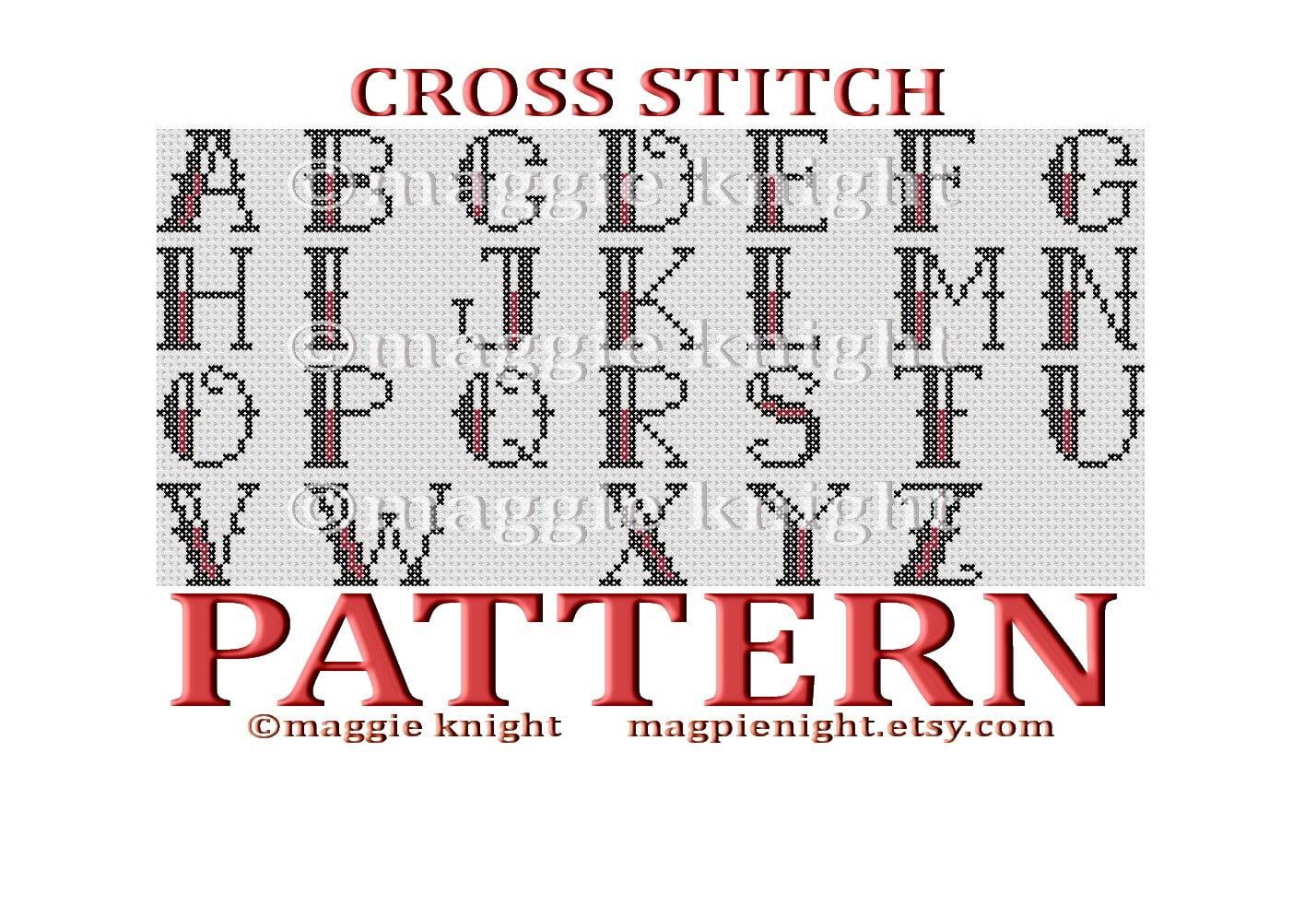 alphabet cross stitch patterns