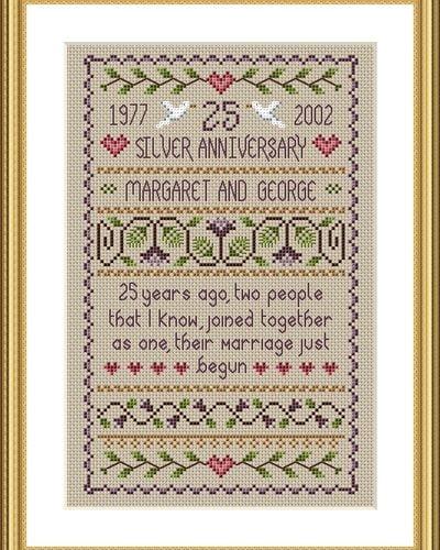 anniversary cross stitch