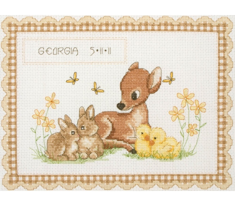birth record cross stitch