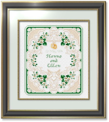 counted cross stitch wedding samplers