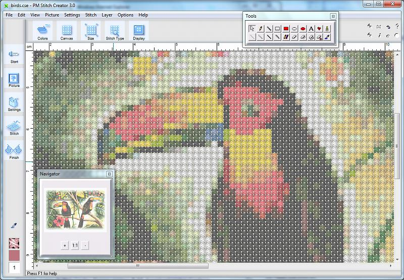 creating cross stitch patterns