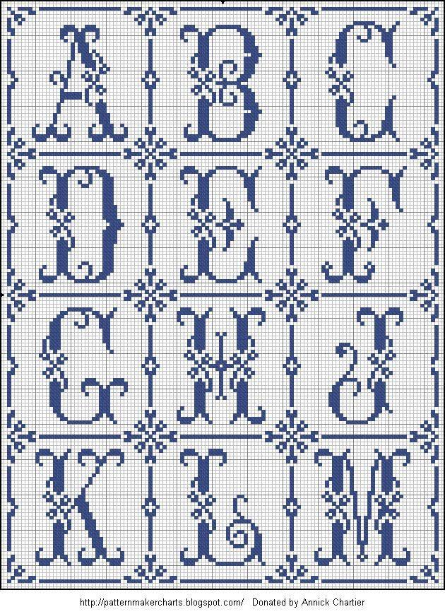 Cross Stitch Alphabet Generator Free Cross Stitch Patterns