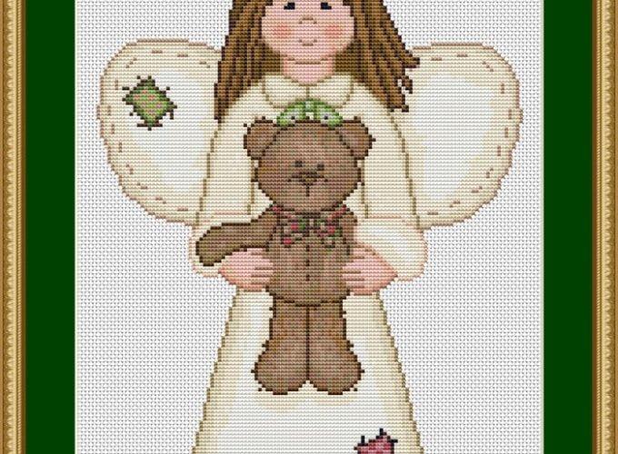cross stitch angels