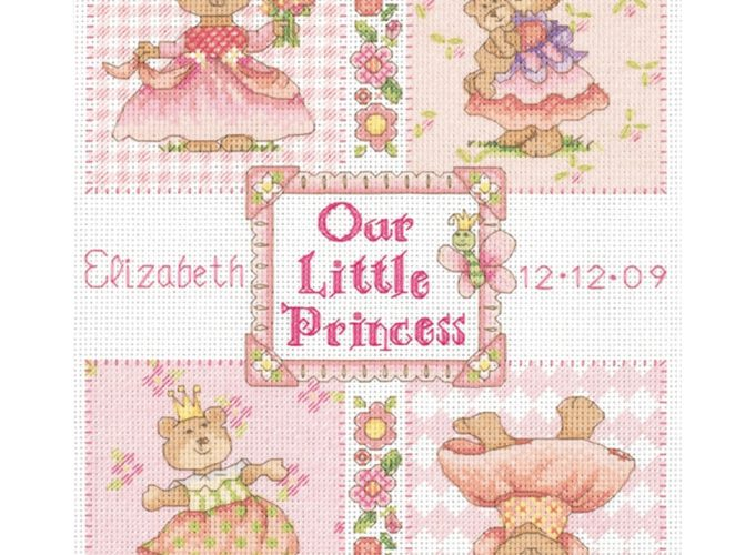 cross stitch birth record