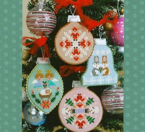 cross stitch christmas decorations