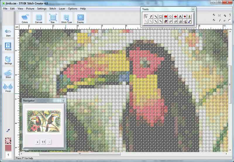 cross stitch design maker