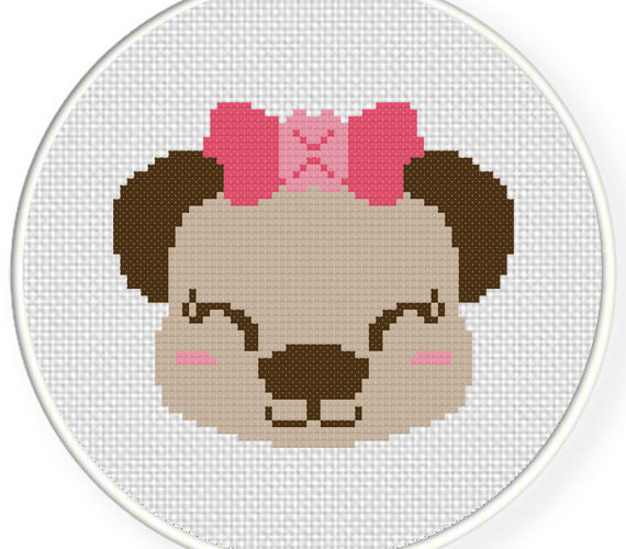 cross stitch girl