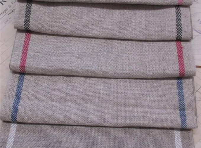 cross stitch on linen