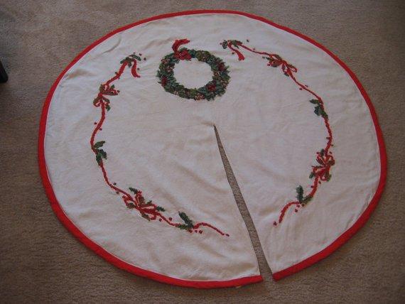 cross stitch tree skirt