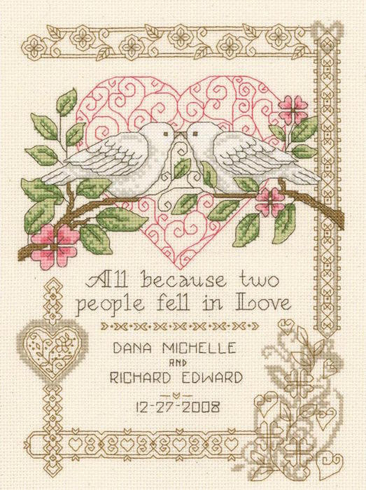 cross stitch wedding kits
