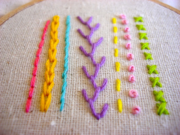 easy embroidery stitches
