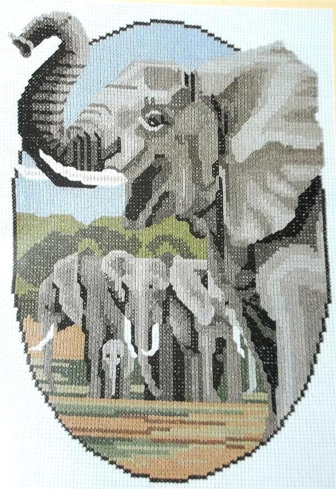elephant cross stitch