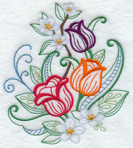 embroidery stitches for flowers