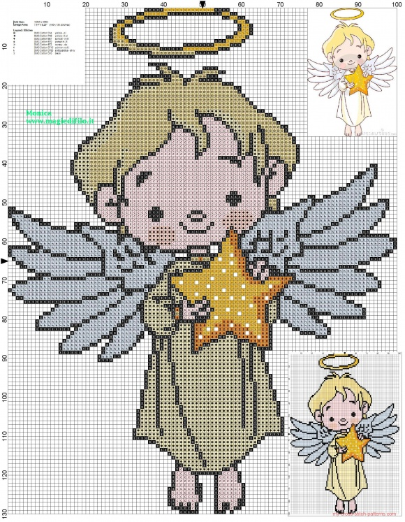 free angel cross stitch patterns to print