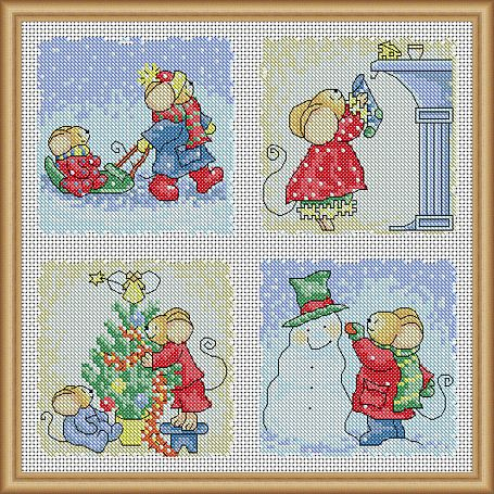 free christmas cross stitch patterns for cards