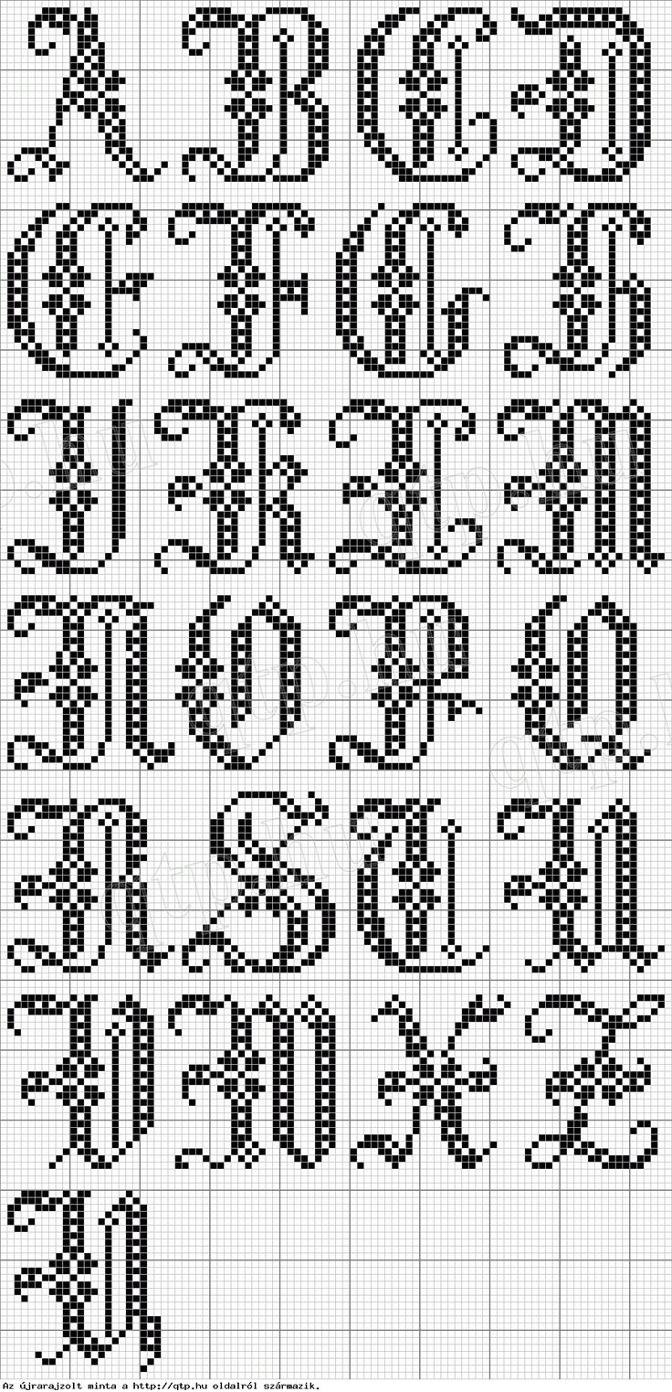 free cross stitch alphabet patterns to print
