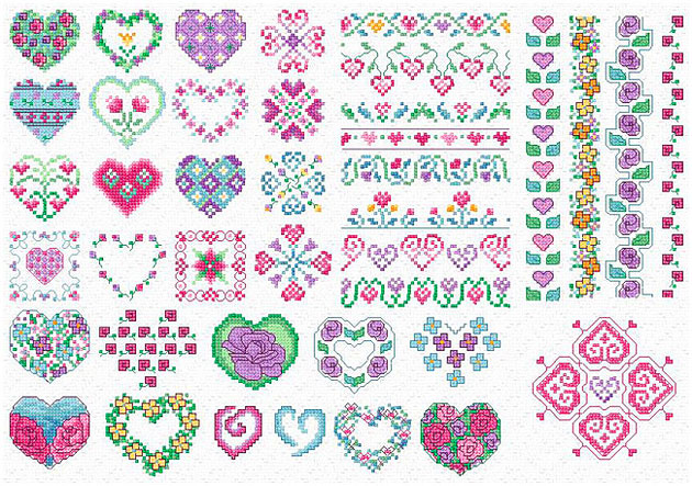 free cross stitch patterns flowers
