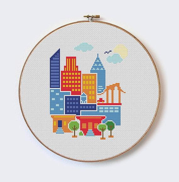 free modern cross stitch patterns