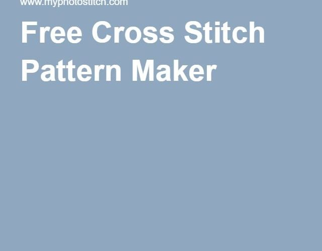 free online cross stitch pattern maker