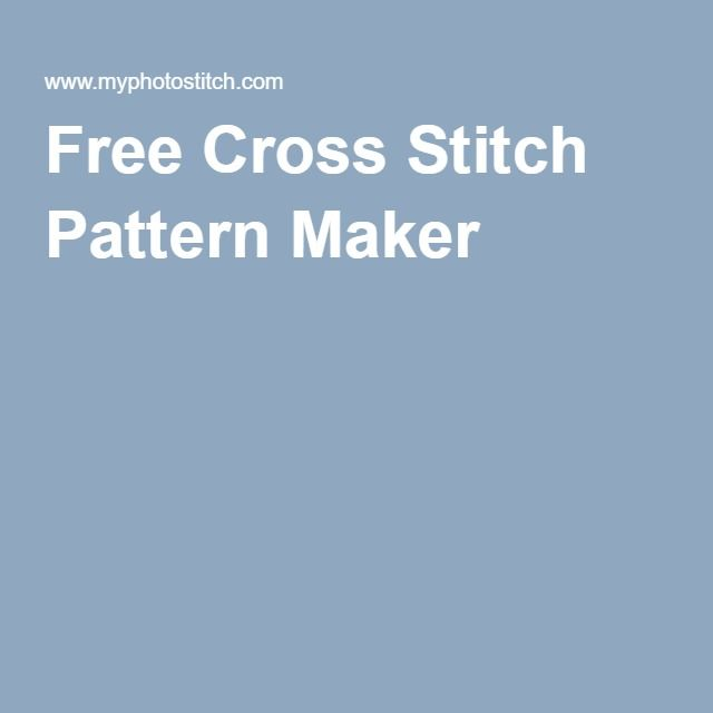 free online cross stitch pattern maker