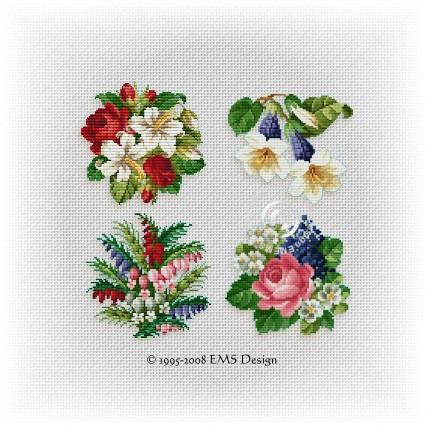free printable cross stitch patterns flowers