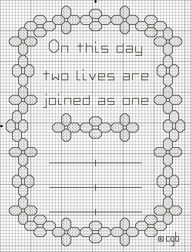 free wedding cross stitch patterns charts