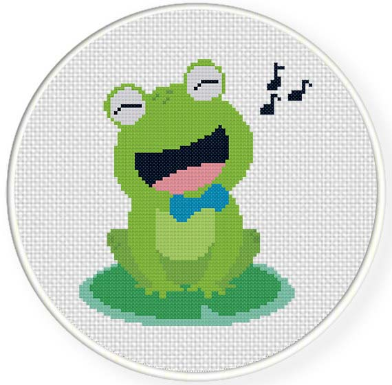 frog cross stitch