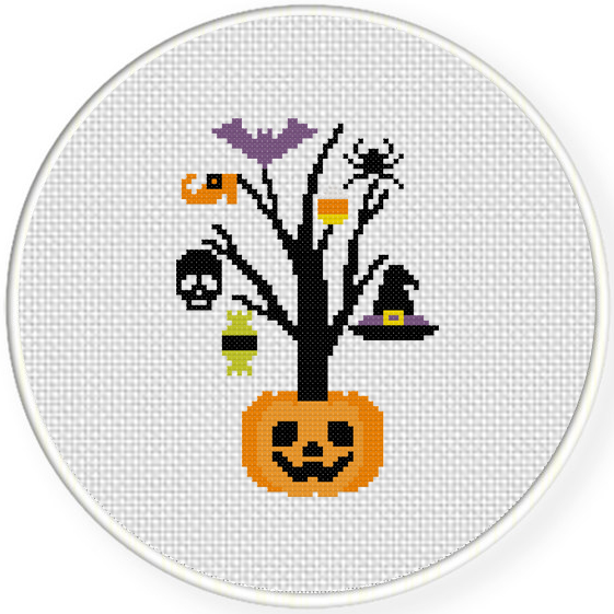 halloween cross stitch patterns free