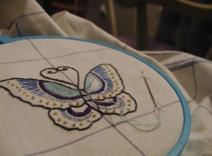 hand embroidery filling stitches