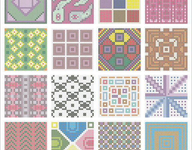 large cross stitch patterns free