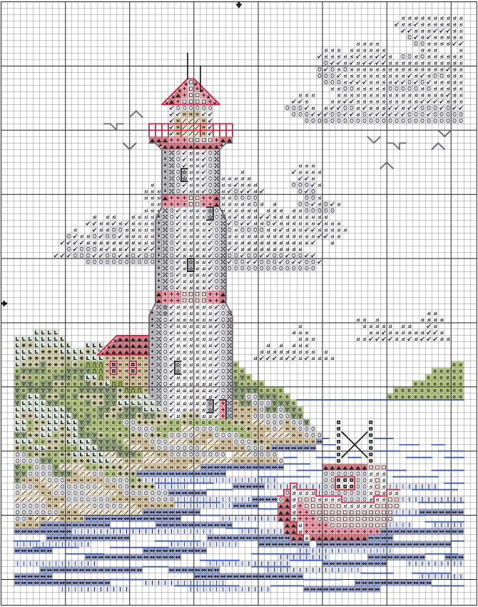 large cross stitch patterns