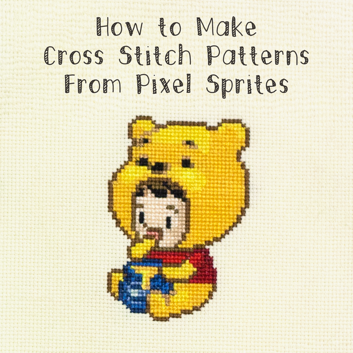 make a cross stitch pattern
