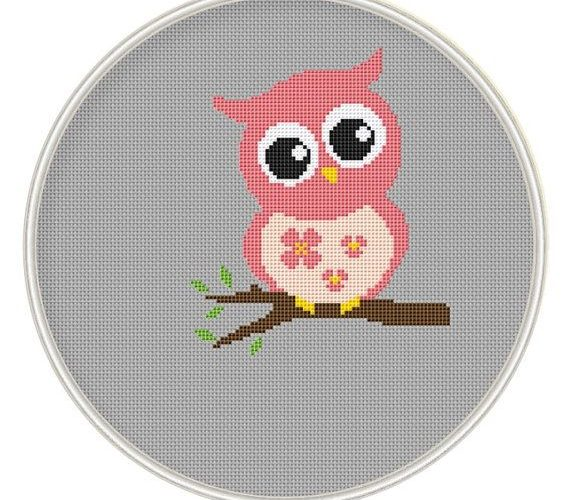 owl cross stitch pattern free