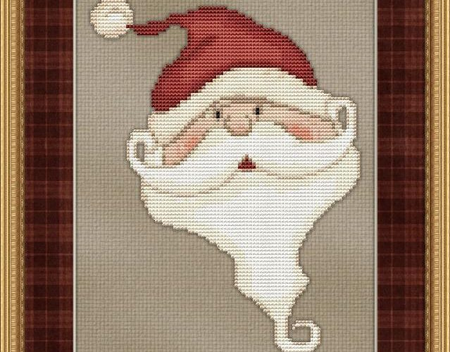 santa cross stitch patterns