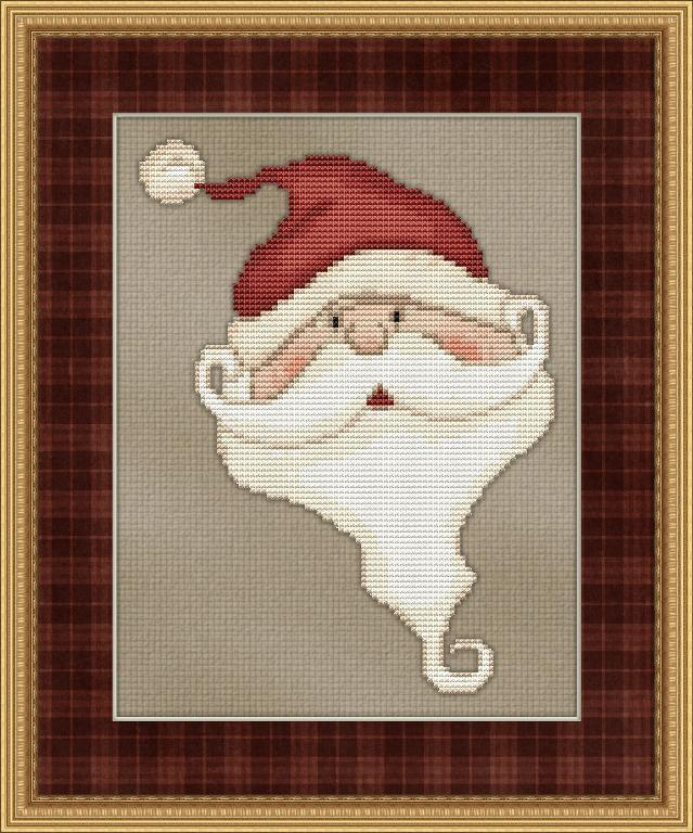 santa cross stitch patterns