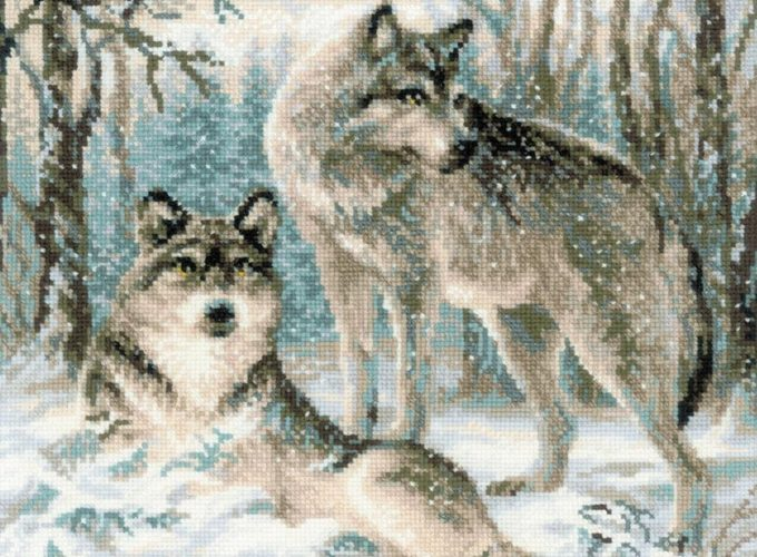 wolf cross stitch